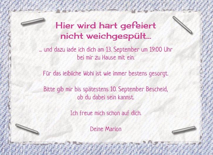 Ansicht 5 - Einladungskarte Waschzettel 30