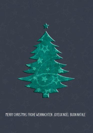 Ansicht 3 - Weihnachtsgrußkarte Foto Baum