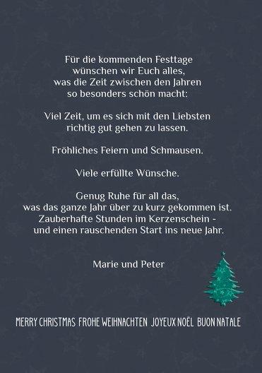 Ansicht 5 - Weihnachtsgrußkarte Foto Baum