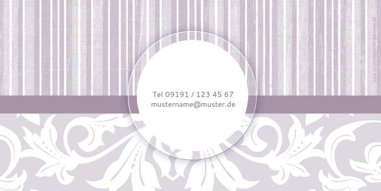 Ansicht 2 - Hochzeit Einladung Streifenzauber