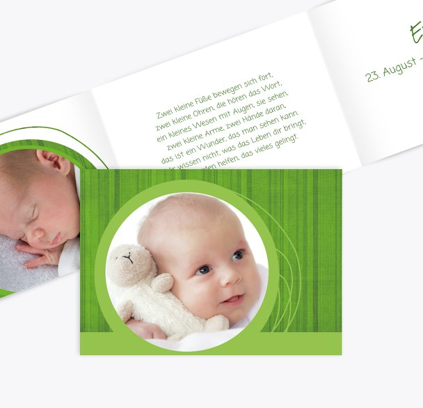 Geburtskarte Wollknäuel