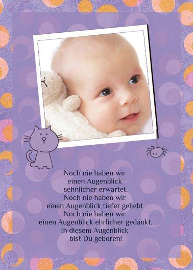 Ansicht 3 - Babykarte Katze