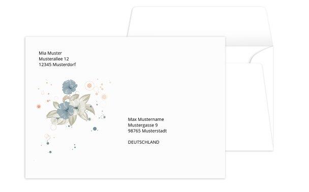 Umschlag aquarell flower