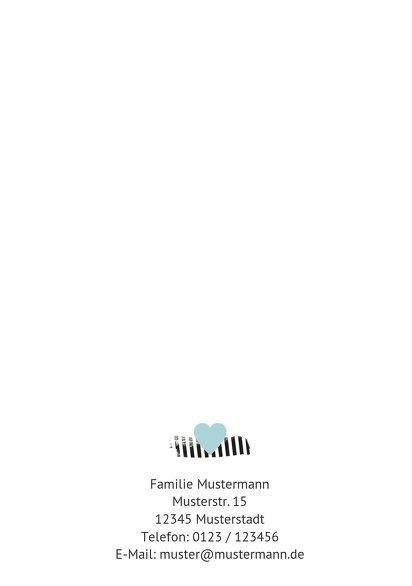Ansicht 2 - Geburtskarte Häuschen