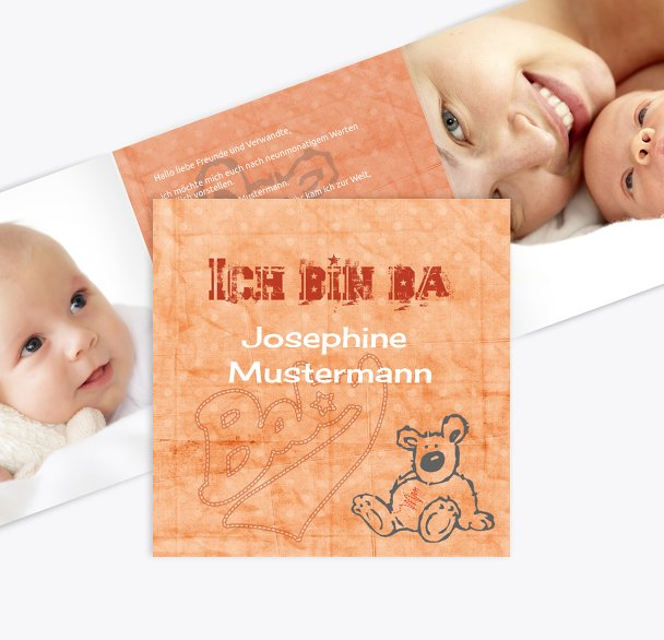 Babykarte Teddy-Star