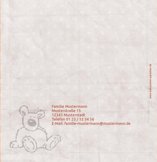 Ansicht 3 - Babykarte Teddy-Star