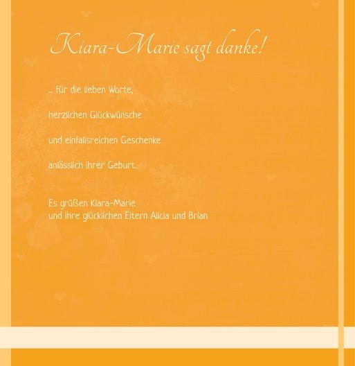 Ansicht 6 - Baby Dankeskarte klangvolle Streifen