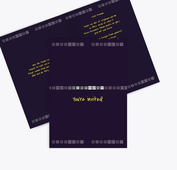 Einladungskarte Birthday Boxes