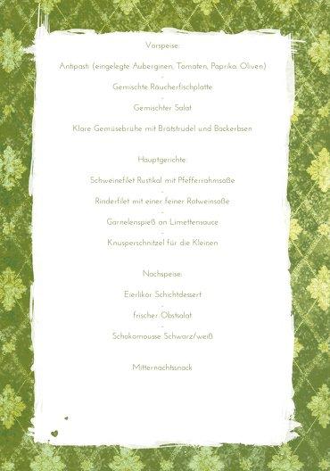 Ansicht 5 - Hochzeit Menükarte Liebesbündnis