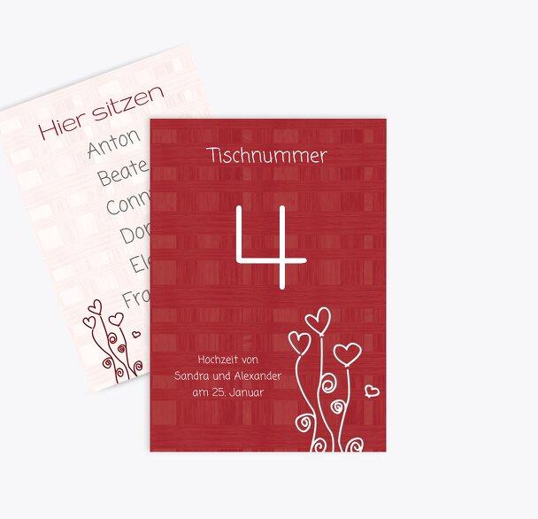 Tischnummer Liebestraum