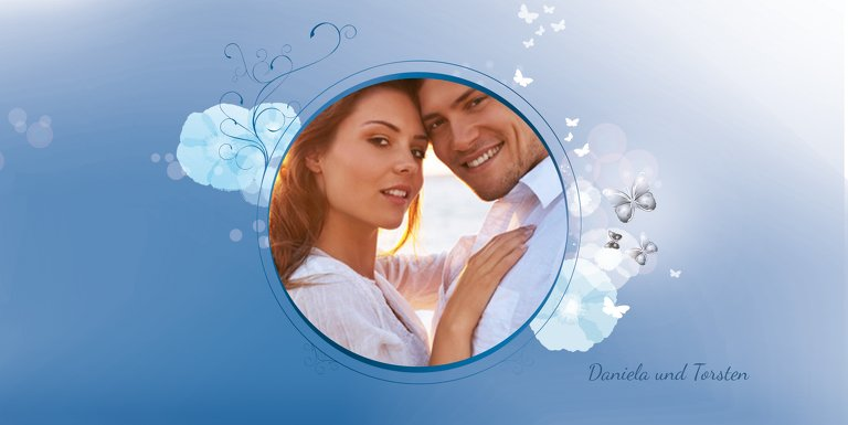 Ansicht 5 - Hochzeit Einladung Din Liebeszauber
