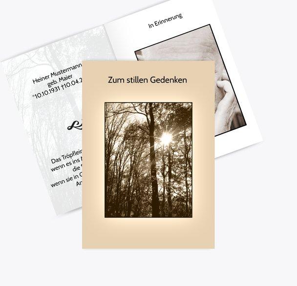 Sterbebildkarte Wald
