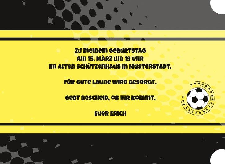 Ansicht 5 - Einladungskarte Fußballstar 50