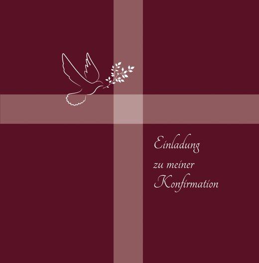 Ansicht 3 - Einladungskarte zur Konfirmation Glaubensbote