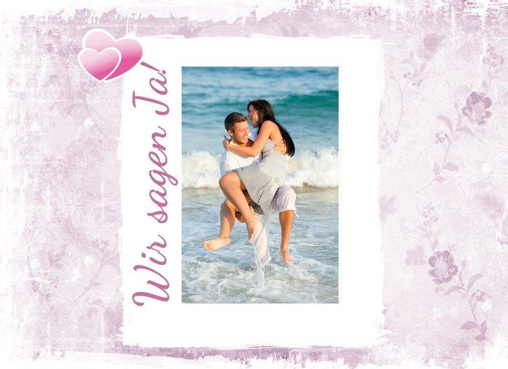 Ansicht 5 - Hochzeit Einladung Din romantische Liebe