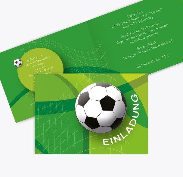 Einladung zum Geburtstag Fußball
