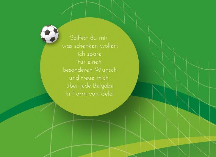 Ansicht 4 - Einladung zum Geburtstag Fußball