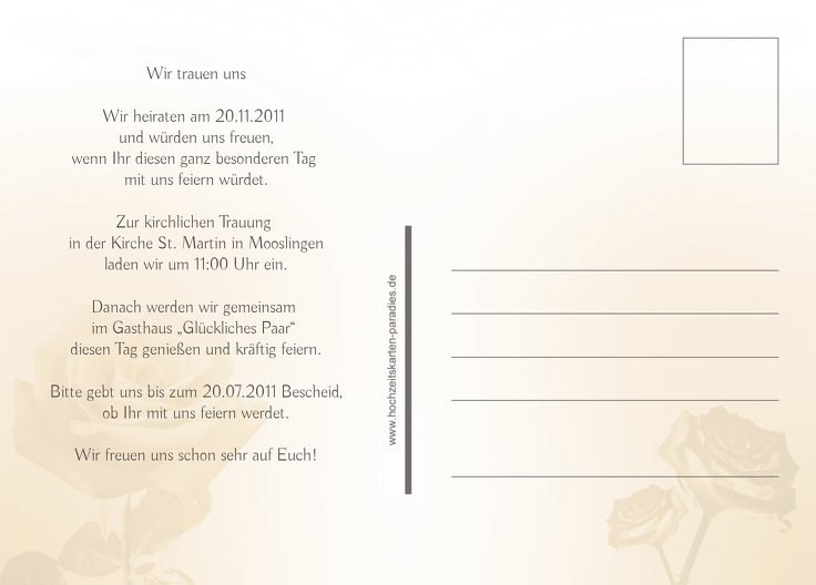 Ansicht 3 - Save-the-Date Rose