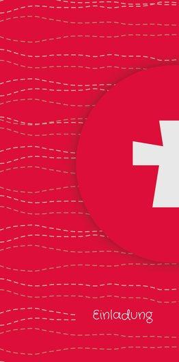 Ansicht 4 - Kommunionskarte Wellen Kreuz