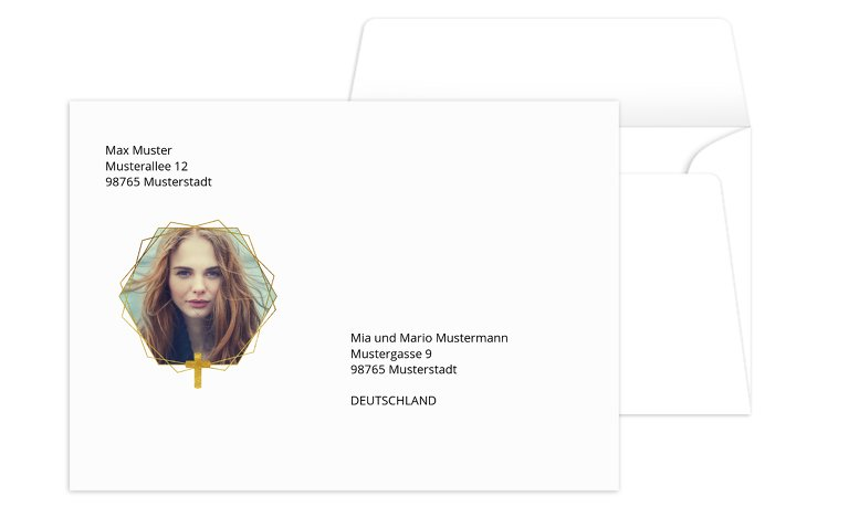 Konfirmation Umschlag Goldrausch