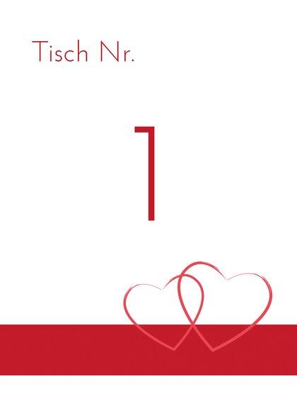 Ansicht 2 - Tischnummer Herzensband
