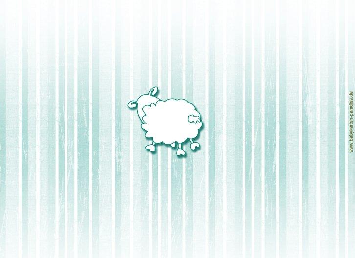 Ansicht 2 - Geburtskarte Sheep