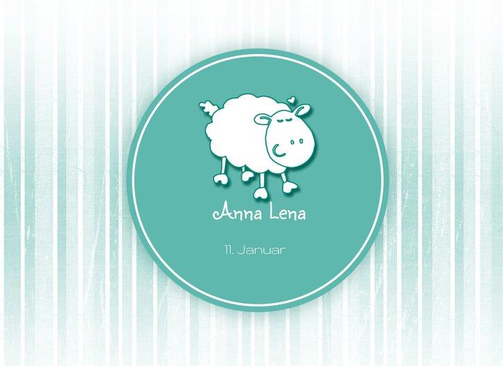 Ansicht 3 - Geburtskarte Sheep