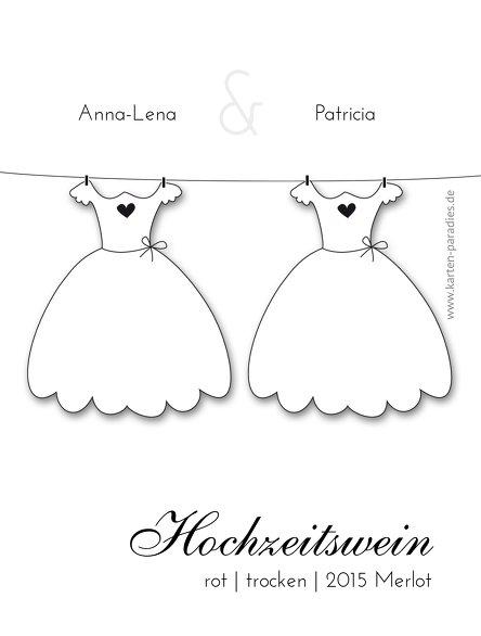 Ansicht 2 - Hochzeit Flaschenetikett dresses