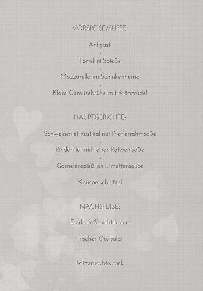 Ansicht 5 - Hochzeit Menükarte ewiges Band