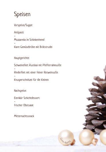 Ansicht 5 - Menükarte Weihnachtsengel