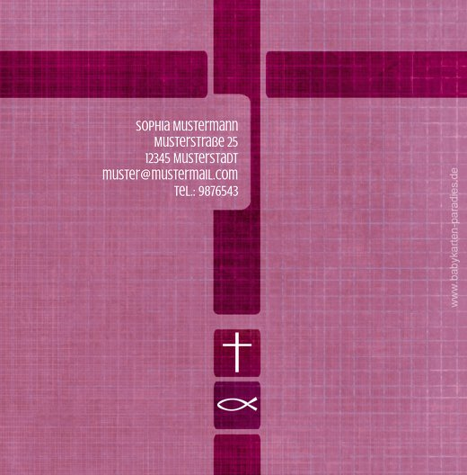 Ansicht 2 - Taufkarte Glaube und Geborgenheit