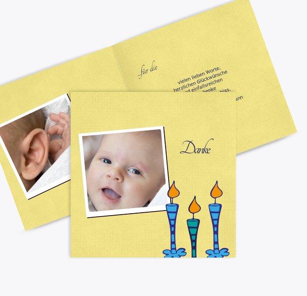 Tauf Dankeskarte Kerzen