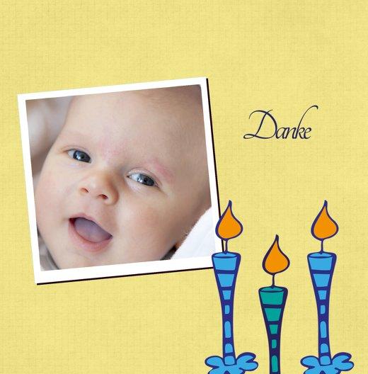 Ansicht 3 - Tauf Dankeskarte Kerzen