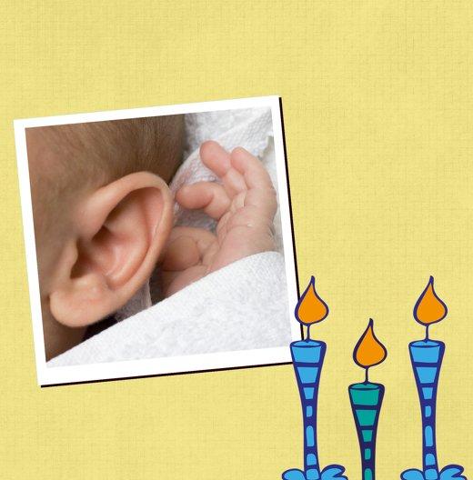 Ansicht 4 - Tauf Dankeskarte Kerzen