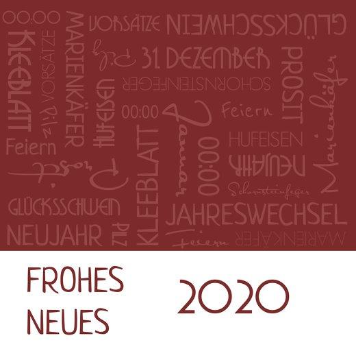 Ansicht 3 - Neujahrskarte Schlagworte