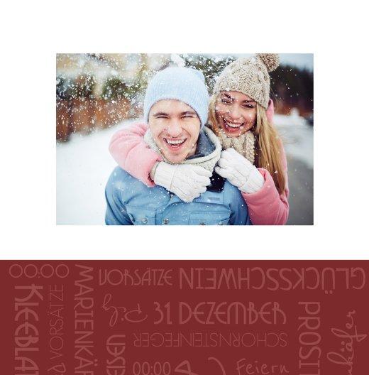 Ansicht 4 - Neujahrskarte Schlagworte