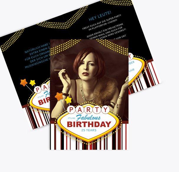 Geburtstagskarte Fabulous Las Vegas Foto