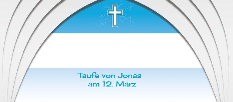 Ansicht 3 - Taufe Tischkarte gotischer Bogen