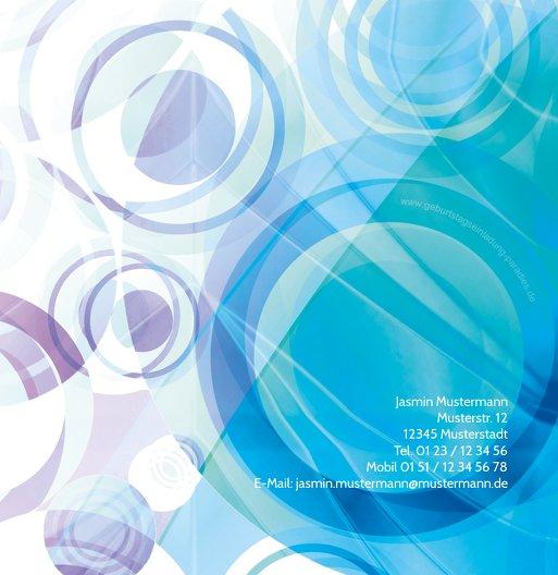 Ansicht 3 - Einladungskarte colorful circles 60 Foto