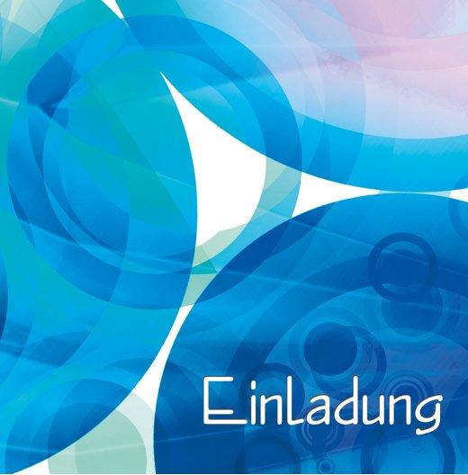 Ansicht 4 - Einladungskarte colorful circles 60 Foto