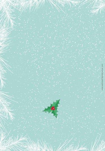 Ansicht 2 - Menükarte Schneemänner