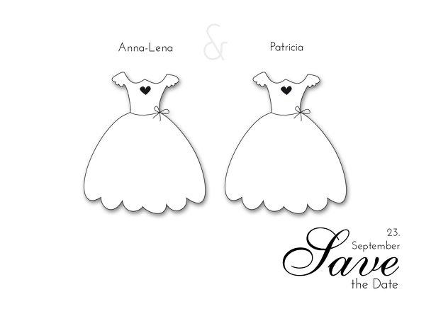 Ansicht 2 - Hochzeit Save-the-Date dresses