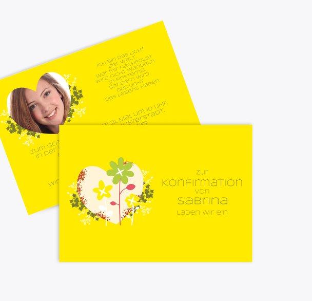 Konfirmation Einladungskarte Herz