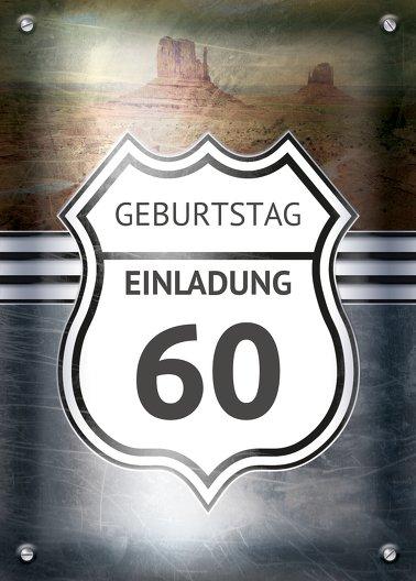 Ansicht 2 - Geburtstagseinladung Route 60
