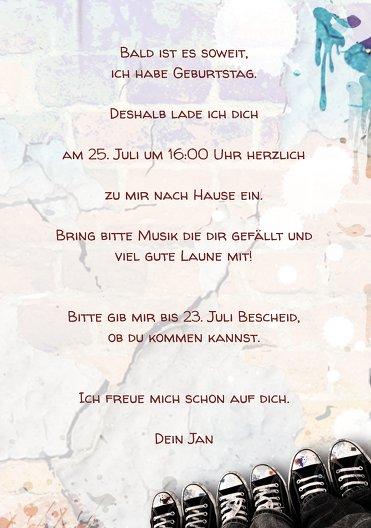 Ansicht 5 - Geburtstagskarte Jugendliche Graffiti Foto