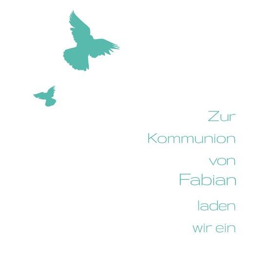Ansicht 3 - Kommunionskarte Taube