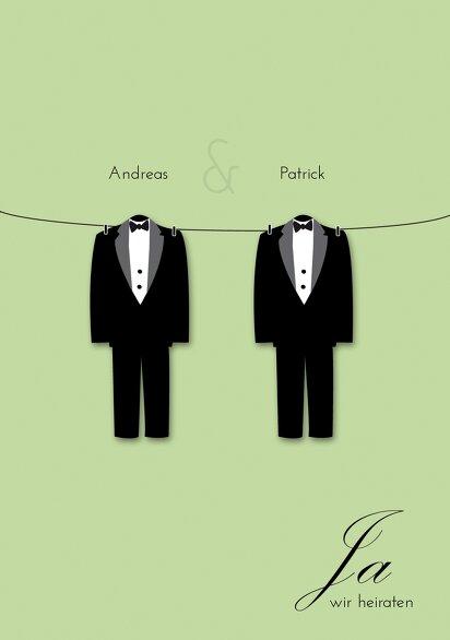 Ansicht 3 - Hochzeit Einladungskarte suits