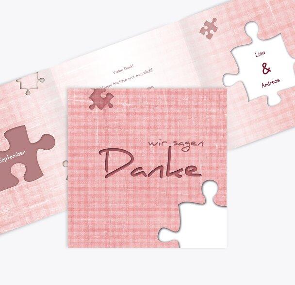 Hochzeit Dankeskarte Puzzle
