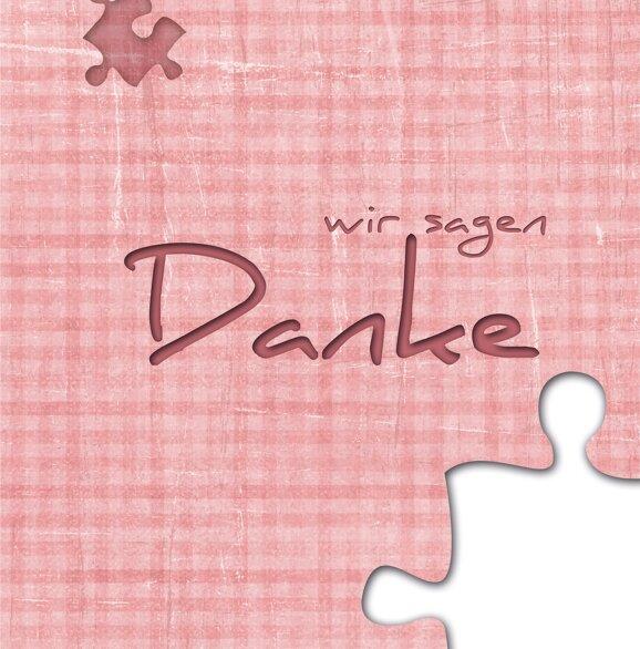 Ansicht 4 - Hochzeit Dankeskarte Puzzle
