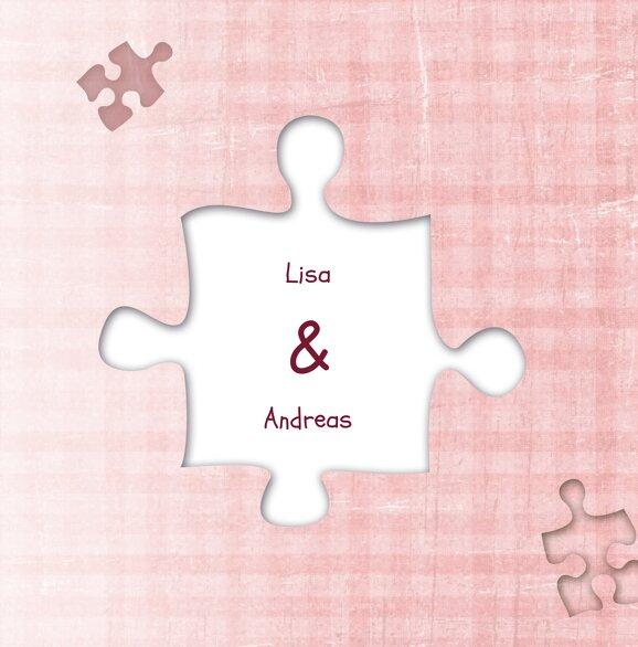 Ansicht 7 - Hochzeit Dankeskarte Puzzle